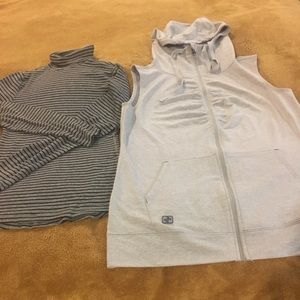 NWOT Jockey hoodie vest w/ H&M's turtleneck top